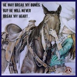 He make break my bones ... but he will never break my heart ...